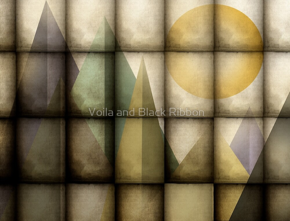 Abstract Wall Art by Voila and Black Ribbon
