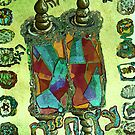 green and brown Torah, Tree of Life by hdettman