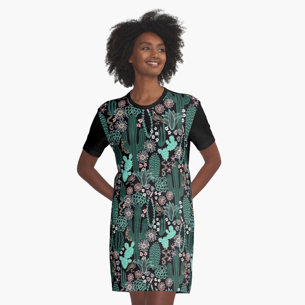 Sonora-Landschaft T-Shirt Kleid