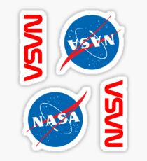 NASA ×4 Sticker