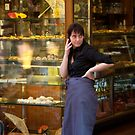 peoplescapes #235, dialling, street scene  by stickelsimages