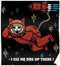I see no dog up there - Gagarin Space Cat Poster