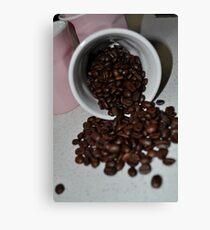 Spilt beans Canvas Print