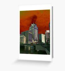 Downtown Milwaukee River Walk ©  Greeting Card