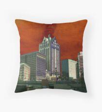 Downtown Milwaukee River Walk ©  Throw Pillow