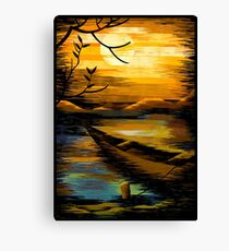 Digital image of sunset Canvas Print