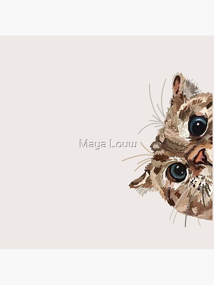 Peeking Cat by MewMewMaya