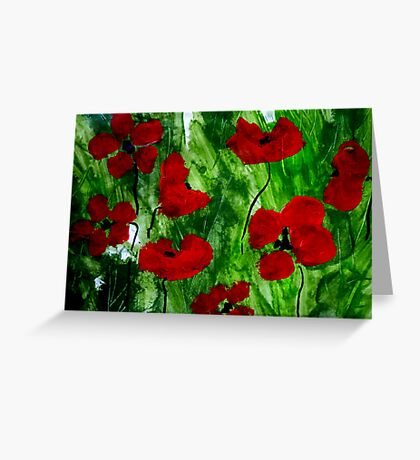 Field Poppies 1 Greeting Card