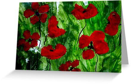 Field Poppies 1 by Angela Gannicott