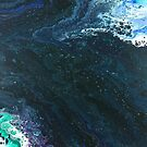 Estuary: river art; fluid acrylic pour art; abstract painting by kerravonsen