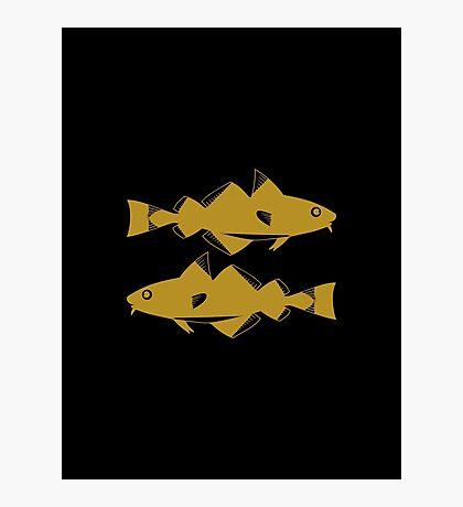 Pisces - Zodiac Symbols Photographic Print