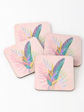 tropical bird of paradise Coasters