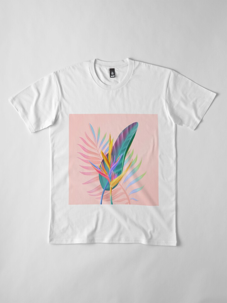 Alternate view of tropical bird of paradise Premium T-Shirt
