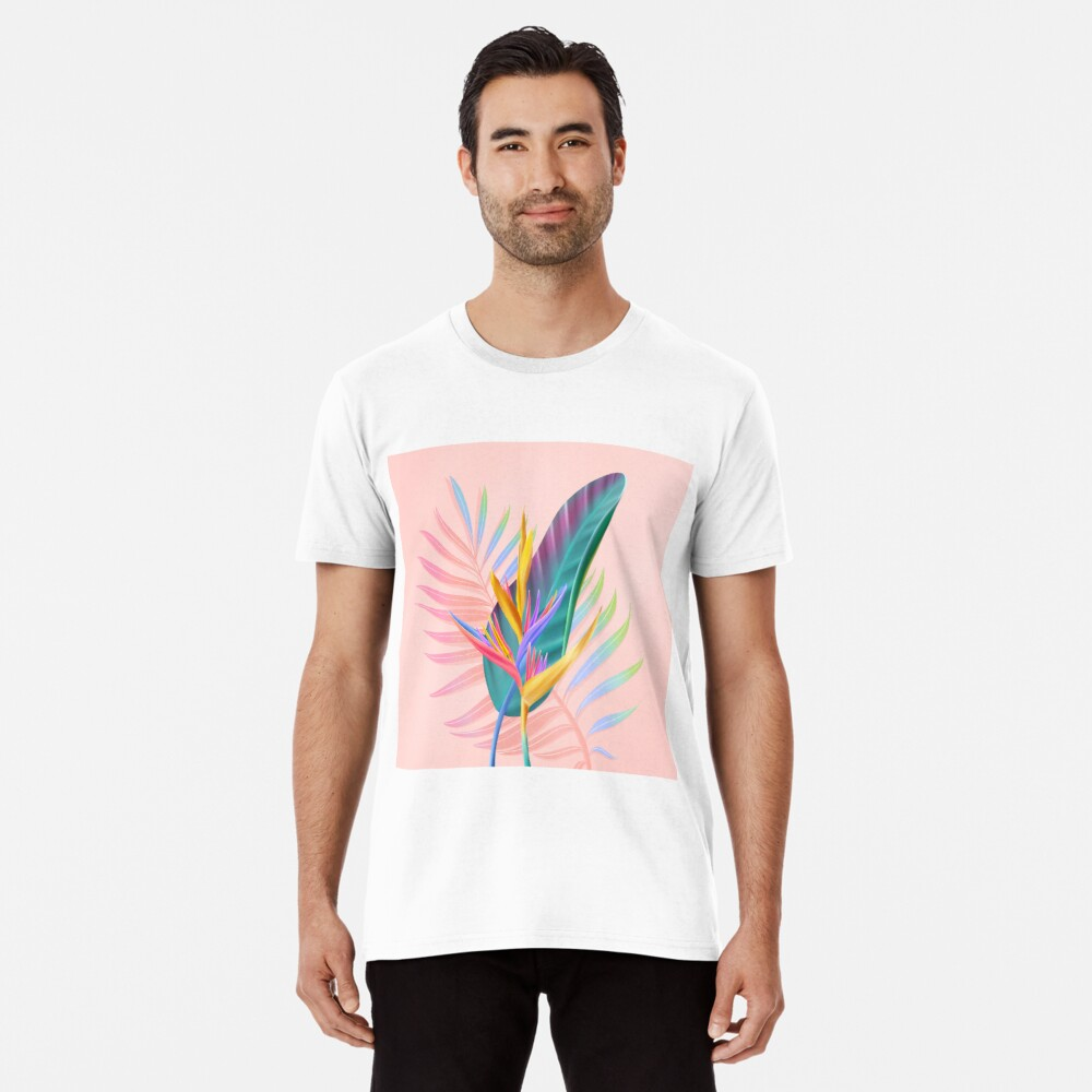 tropical bird of paradise Premium T-Shirt