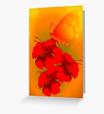 Digital painting of flower. Greeting Card