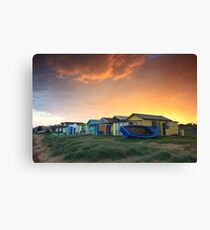 Campbells Cove Boat Sheds Canvas Print