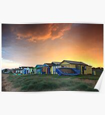 Campbells Cove Boat Sheds Poster