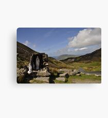 Stop for a prayer Canvas Print