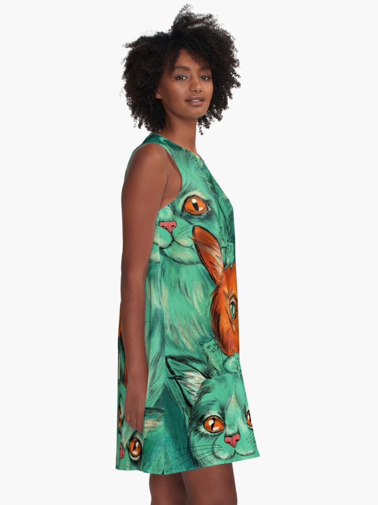Alternate view of Kitty Madness A-Line Dress