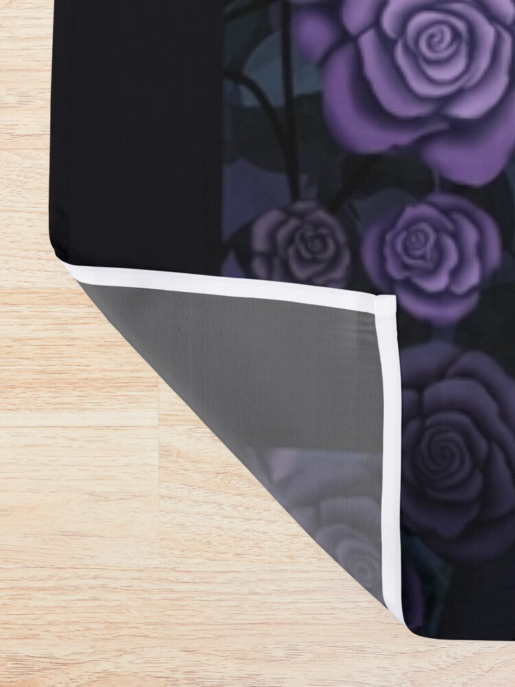 Alternate view of Shadowy Rose Shower Curtain