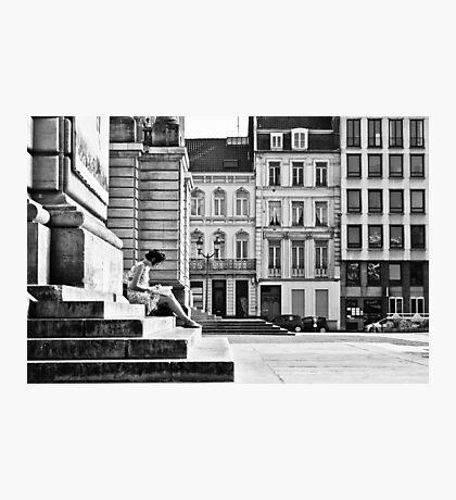 Writing woman Photographic Print