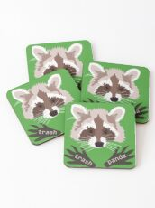 Raccoon pattern Coasters