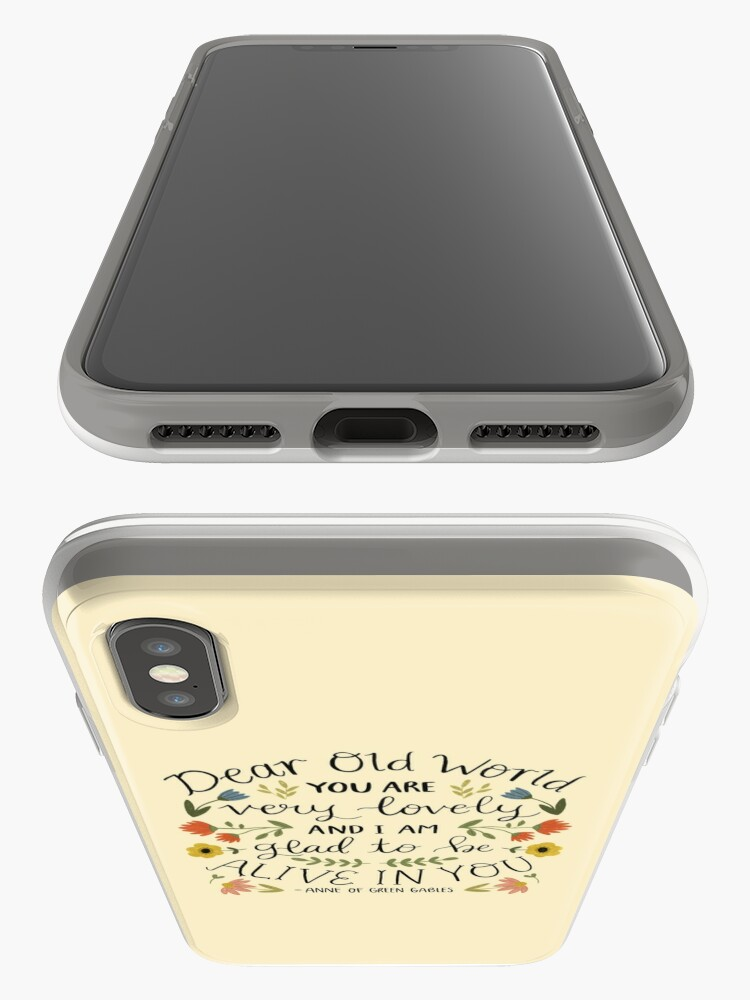 "Alternate view of Anne of Green Gables ""Dear Old World"" Quote iPhone Case & Cover"