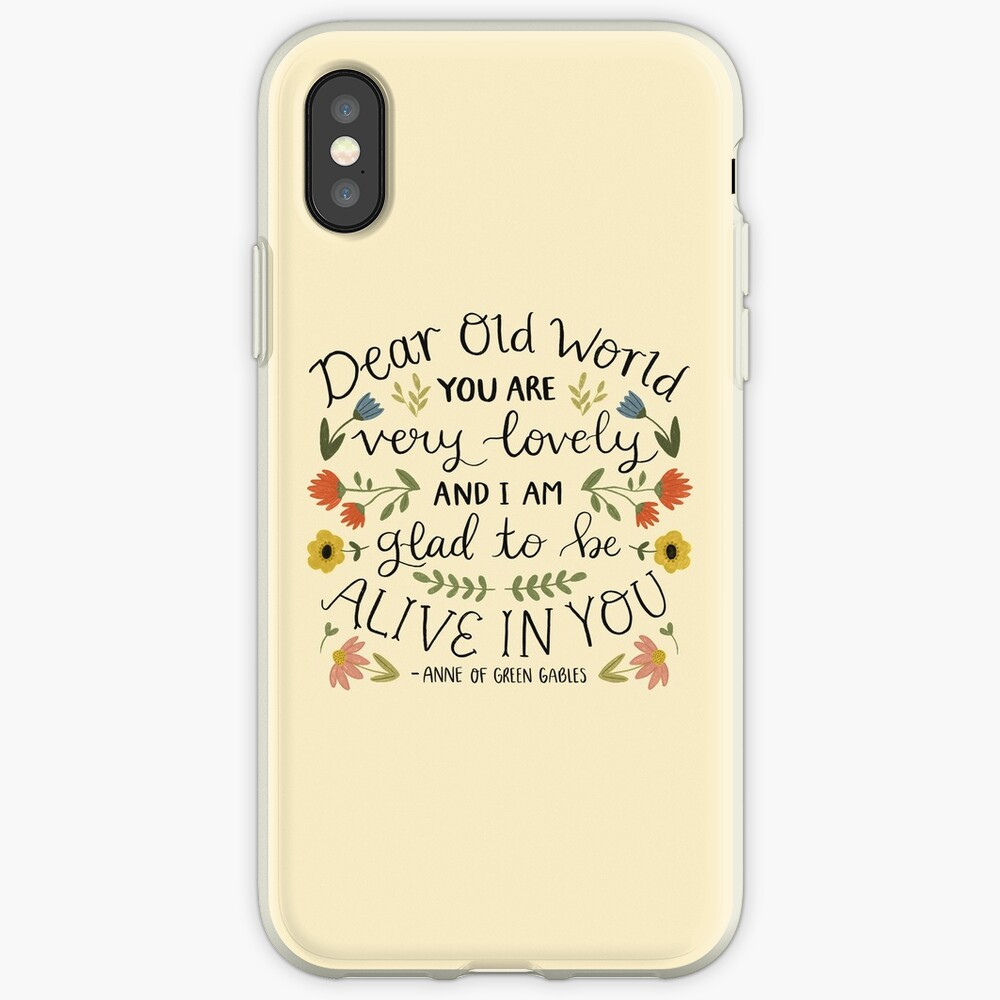 "Anne of Green Gables ""Dear Old World"" Quote iPhone Case & Cover"