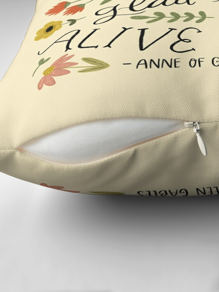 "Alternate view of Anne of Green Gables ""Dear Old World"" Quote Floor Pillow"