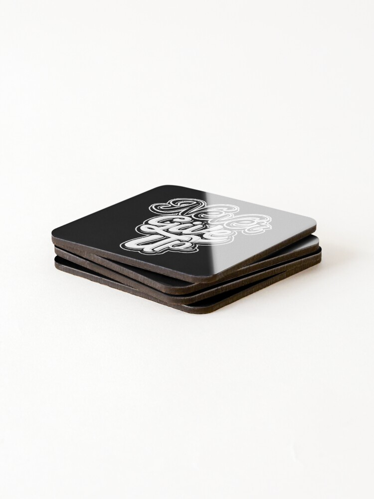 Alternate view of Never Give Up Coasters (Set of 4)