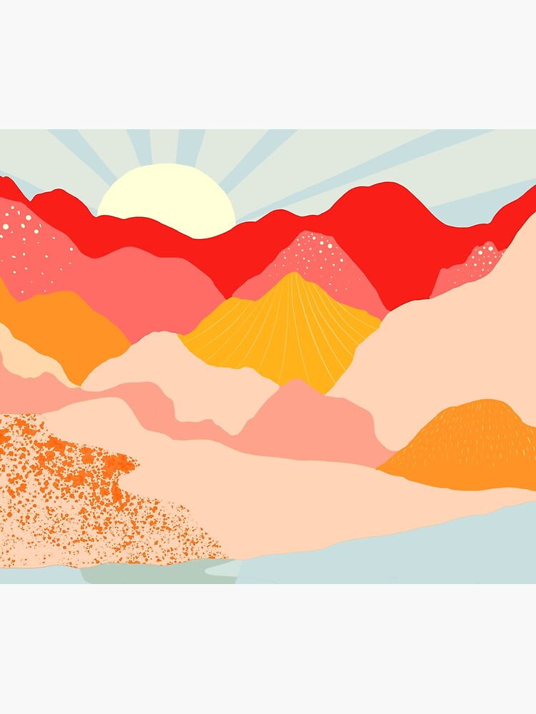 sunrise mountains by dansedelune