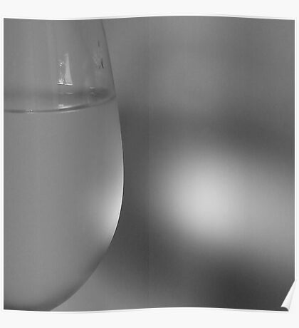 Glass of cold water. II Poster