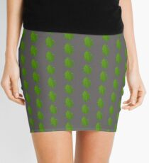 Patterned Leaf Skirt Mini Skirt