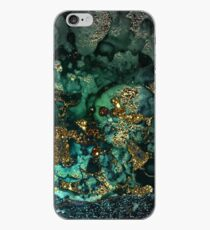 Gold Indigo Malachit Marmor iPhone-Hülle & Cover