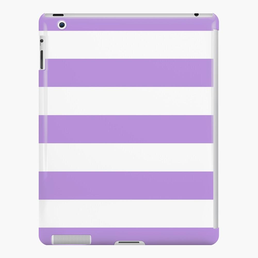 Stripes (Parallel Lines) - Purple White iPad Case & Skin
