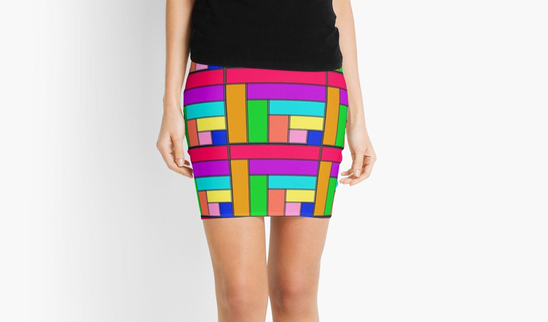 Competing Colors Skirt by PharrisArt