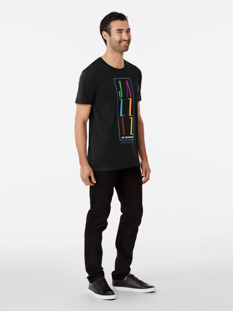 """Alternate view of JAZZIZ """"Stacked"""" Premium T-Shirt"""