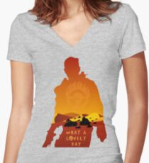Mad Max Minimalist Women's Fitted V-Neck T-Shirt