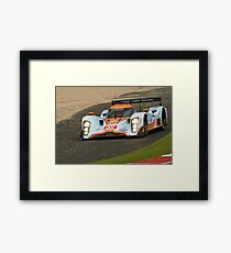 The conventional line has the kerb on your right Framed Print