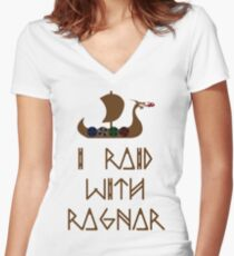 I Raid with Ragnar Women's Fitted V-Neck T-Shirt