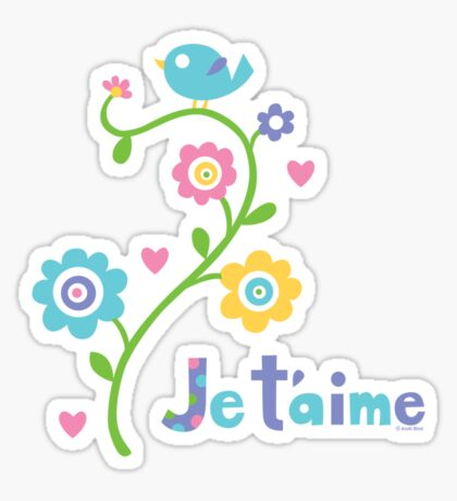 je t'aime - i love you - lights Sticker