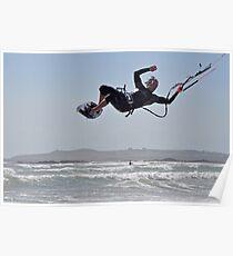 kitesurfing F16 Poster