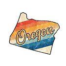 Oregon State | Colorful Retro 70s Design von PraiseQuotes