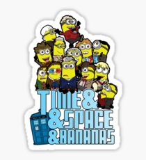 Time and Space and Bananas Sticker