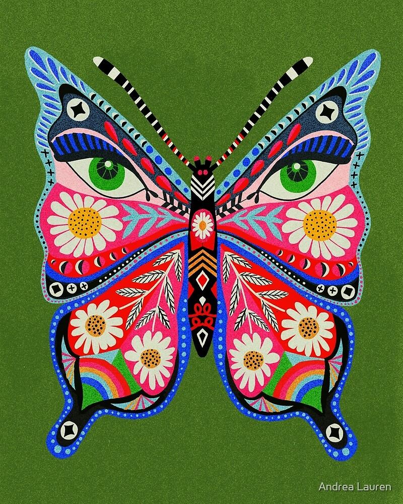 Schmetterling Nr. 1 - Retro 70er Jahre Schmetterling. Augen, Andrea Lauren von Andrea Lauren