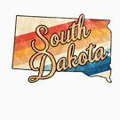 South Dakota State | Colorful Retro 70s Design von PraiseQuotes
