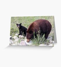 Momma and her Cub Greeting Card