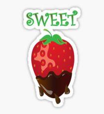 strawberry tshirt Sticker