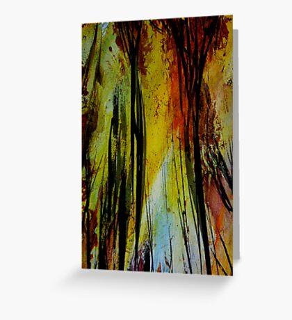 burning... tall spirit trees Greeting Card