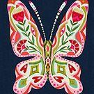 Butterfly no.2 - Retro 70er Jahre Schmetterling. Andrea Lauren von Andrea Lauren